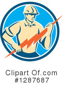 Electrician Clipart #1287687 by patrimonio