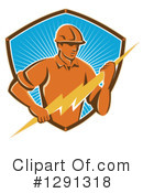 Electrician Clipart #1291318 by patrimonio