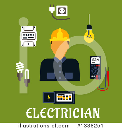 Electrician Clipart #1338251 by Vector Tradition SM