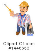 Royalty-Free (RF) Electrician Clipart Illustration #1446663