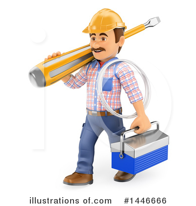 Electrician Clipart #1446666 by Texelart