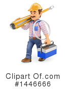 Royalty-Free (RF) Electrician Clipart Illustration #1446666