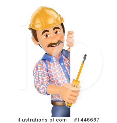 Electrician Clipart #1446667 by Texelart