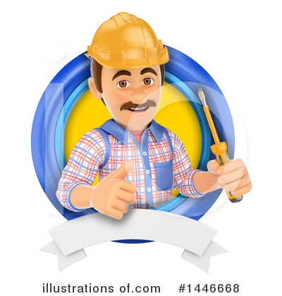 Worker Clipart #1446668 by Texelart