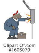 Electrician Clipart #1606079 by djart