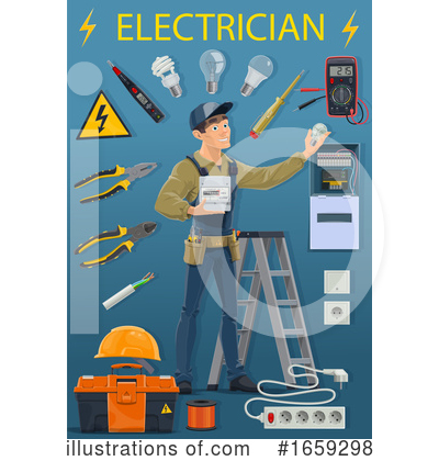 Electrician Clipart #1659298 by Vector Tradition SM