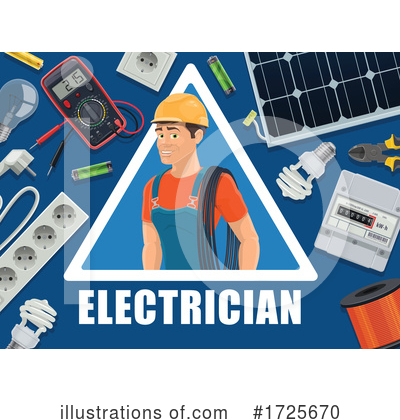 Electrician Clipart #1725670 by Vector Tradition SM