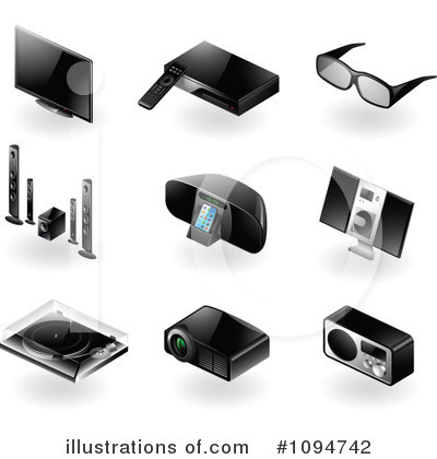 3d Glasses Clipart #1094742 by TA Images