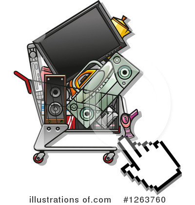 Shopping Cart Clipart #1263760 by Vector Tradition SM