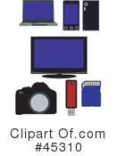 Royalty-Free (RF) Electronics Clipart Illustration #45310