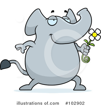 Elephant Clipart #102902 by Cory Thoman