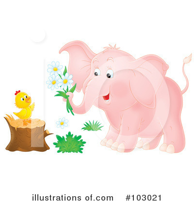 Elephant Clipart #103021 by Alex Bannykh