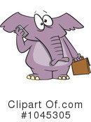 Elephant Clipart #1045305 by toonaday