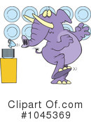 Elephant Clipart #1045369 by toonaday