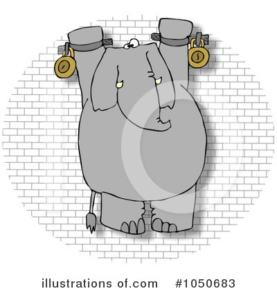 Royalty-Free (RF) Elephant Clipart Illustration by djart - Stock Sample #1050683