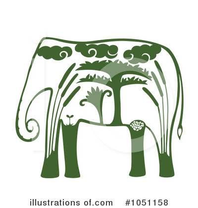 Elephant Clipart #1051158 by Cherie Reve