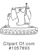 Royalty-Free (RF) Elephant Clipart Illustration #1057893