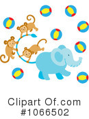 Royalty-Free (RF) Elephant Clipart Illustration #1066502