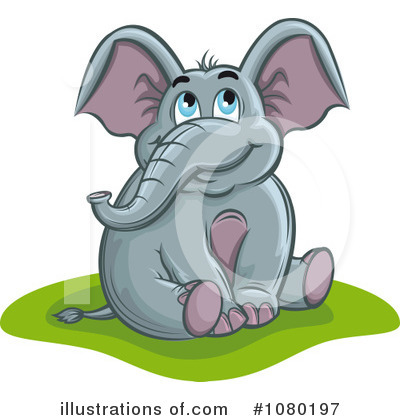 Elephant Clipart #1080197 by Vector Tradition SM
