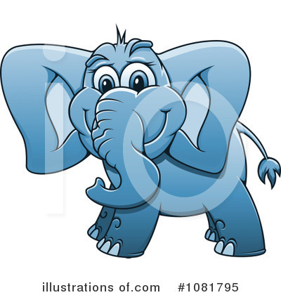 Elephant Clipart #1081795 by Vector Tradition SM