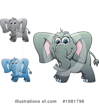 Elephant Clipart #1081796 by Vector Tradition SM