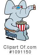 Royalty-Free (RF) Elephant Clipart Illustration #1091150