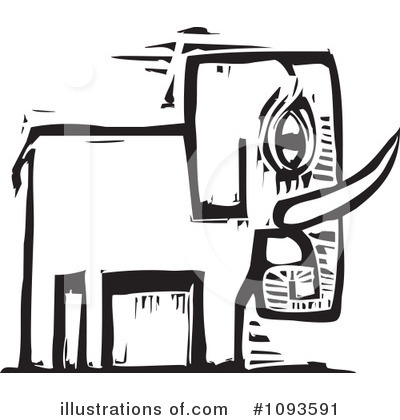 Elephant Clipart #1093591 by xunantunich