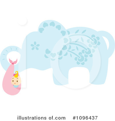 Elephant Clipart #1096437 by Cherie Reve
