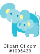 Royalty-Free (RF) Elephant Clipart Illustration #1096439