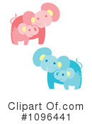 Royalty-Free (RF) Elephant Clipart Illustration #1096441