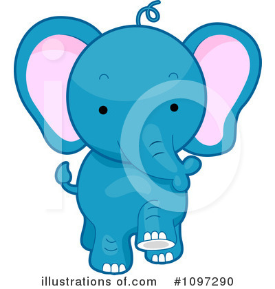 Elephants Clipart #1097290 by BNP Design Studio