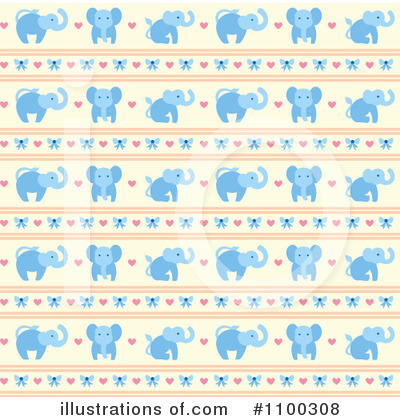 Elephant Clipart #1100308 by Cherie Reve