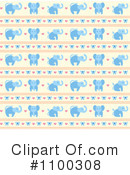 Royalty-Free (RF) Elephant Clipart Illustration #1100308