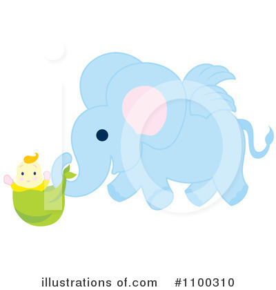 Elephant Clipart #1100310 by Cherie Reve