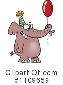 Royalty-Free (RF) Elephant Clipart Illustration #1109659