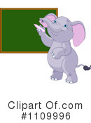 Royalty-Free (RF) elephant Clipart Illustration #1109996