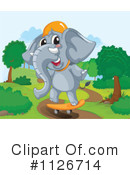 Royalty-Free (RF) Elephant Clipart Illustration #1126714
