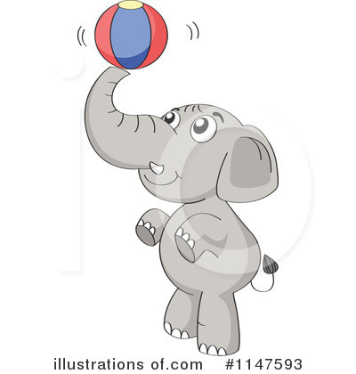 Elephant Clipart #1147593 by Graphics RF