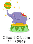Royalty-Free (RF) Elephant Clipart Illustration #1176849