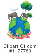 Royalty-Free (RF) Elephant Clipart Illustration #1177780