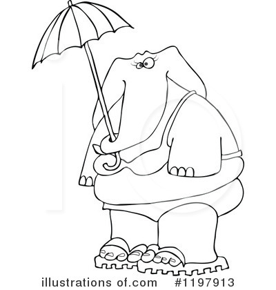 Royalty-Free (RF) Elephant Clipart Illustration by djart - Stock Sample #1197913