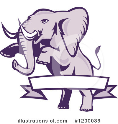 Elephant Clipart #1200036 by patrimonio