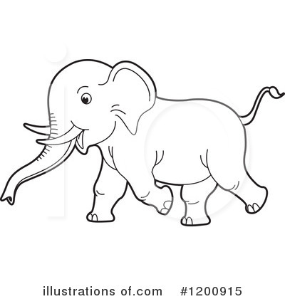 Elephant Clipart #1200915 by Lal Perera