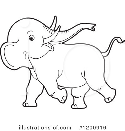 Elephant Clipart #1200916 by Lal Perera
