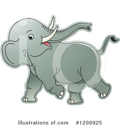Elephant Clipart #1200925 by Lal Perera