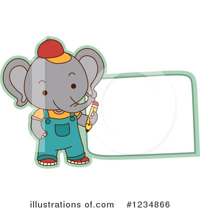 Elephant Clipart #1234866 by BNP Design Studio