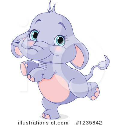 Elephant Clipart #1235842 by Pushkin