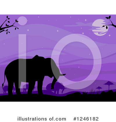 Elephant Clipart #1246182 by BNP Design Studio