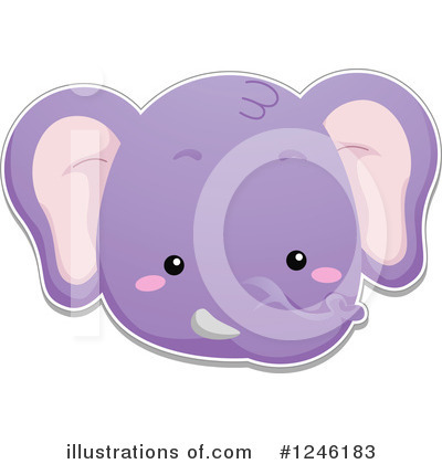 Elephant Clipart #1246183 by BNP Design Studio