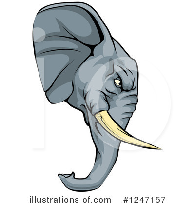 Elephant Clipart #1247157 by AtStockIllustration